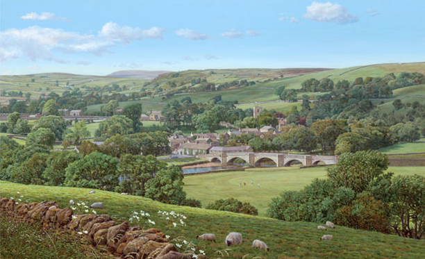 Summer in the Dales, Burnsall - Yorkshire. Painting- Keith Melling