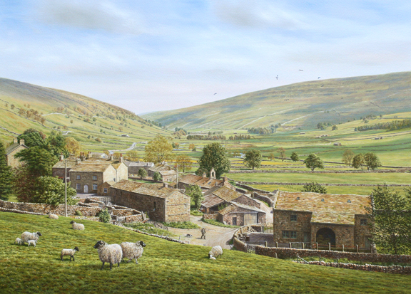 Littondale, Yorkshire Dales. Painting Keith Melling