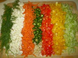 barve zelenjave