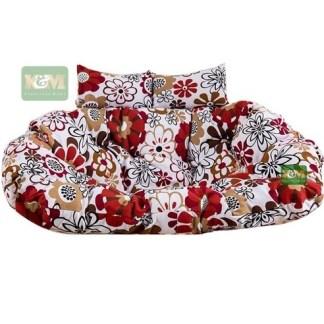 Brown Flower Egg Chair Cushion K&M