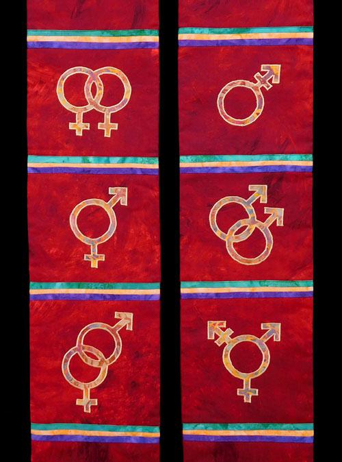 Gender Diversity Symbols Stole Kmh Sewing Studio