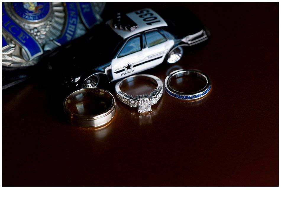 Police wedding rings| k moss photography