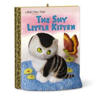 25 Last Minute Gifts for Book Lovers Little Golden Books The Shy Little Kitten Christmas Ornament