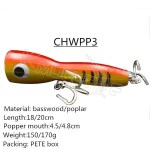 CHWPP3 basswood material wooden popper lure fro a big game