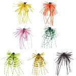 Tungsten jigs wholesale rubber jigs skirts lure