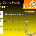 KHS0201B Stainless steel big game hooks value pack wholesale