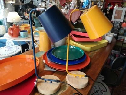 Lampada Abat Jour Legno Metallo Colorato - KMV Home Store stocKMarket
