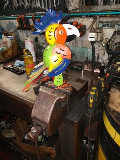 Pappagallo Portacandela Decorazione Metallo Colorato - KMV Home Store stocKMarket