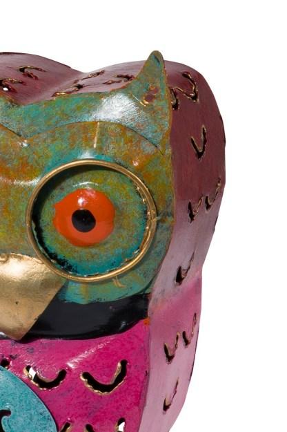 Portacandele-Decorazione-Gufo-Colorato-Metallo-KMV-Home-Store-stocKMarket