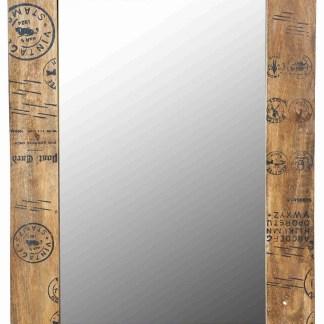 Specchio Cornice Legno Timbri Vintage - KMV Home Store - stocKMarket