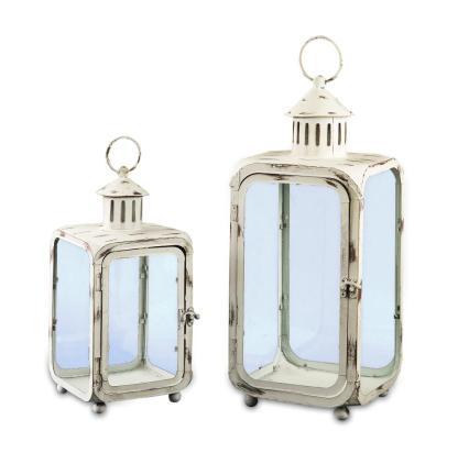 Lanterna Shabby Metallo Vetro - KMV Home Store stocKMarket