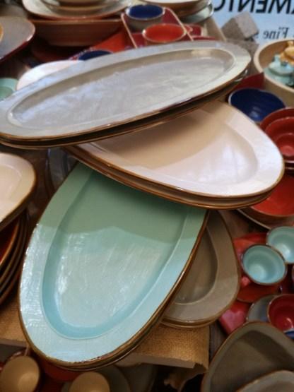 Piatto Portata Vassoio Ovale Gres Porcellanato Colorato Toscana - KMV Home Store stocKMarket