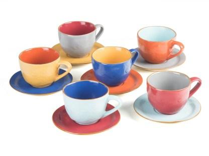 Tazza Tea Piattino Gres Porcellanato Colorato Toscana - KMV Home Store - stocKMarket