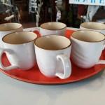 Tazza Mug per Tisana, in Gres, Confezione 6 Bianco, Toscana