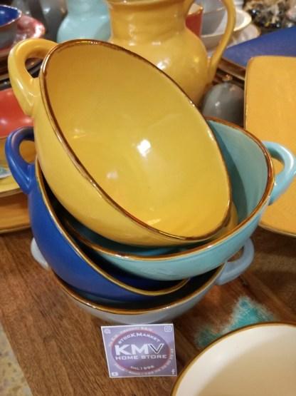 Zuppiera Scodella Manici Gres Porcellanato Colorato Toscana - KMV Home Store stocKMarket