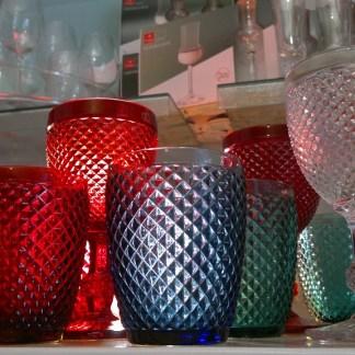 Bicchiere Acqua Diamanti Vetro Blu - KMV Home Store stocKMarket