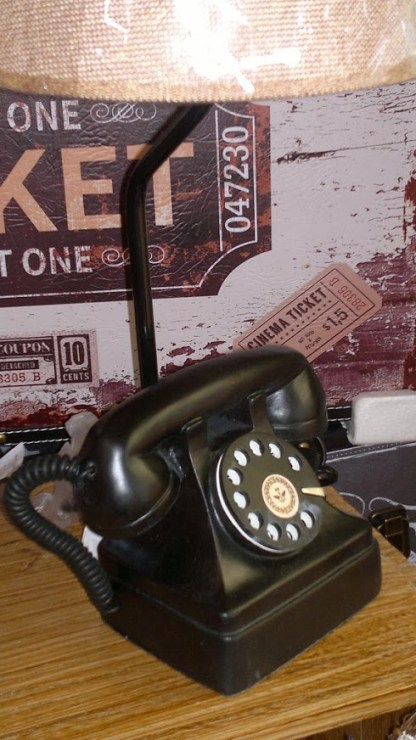 Lampada Abat Jour Telefono Vintage - KMV Home Store stocKMarket