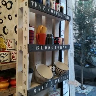 Mensola Legno Recycled Pallet 3 Ripiani Portatazze Mug Barattoli - KMV Home Store stocKMarket