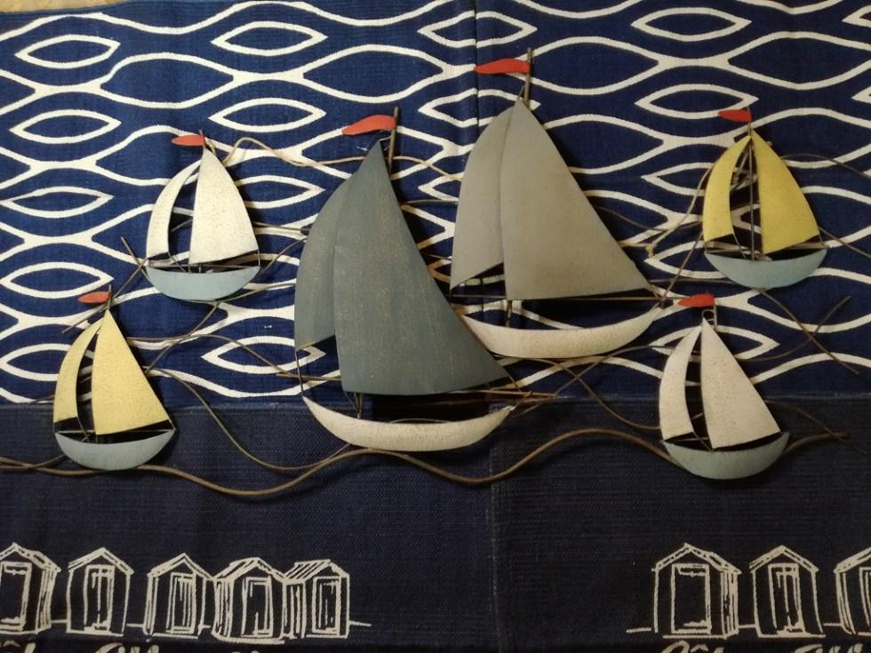 Quadro Barche Vela Regata 3D Colorato Metallo - KMV Home Store stocKMarket