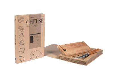 Set Formaggio Coltello Tagliere Custodia Libro - KMV Home Store stocKMarket