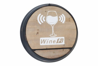Tavolo Mensola Wine-Fi Apribile Portabottiglie Bicchieri Metallo Legno - Kmv Home Store stocKMarket