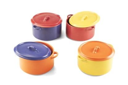 Terrina Tonda Grande Pentola Coperchio Forno Gres Porcellanato - KMV Home Store stocKMarket