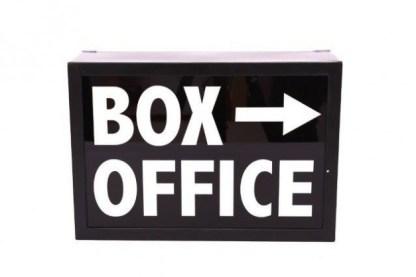 Insegna Targa Cartello Lampada Box Office Luminosa Light Box Metallo Vetro Nero Bianco - KMV Home Store stocKMarket