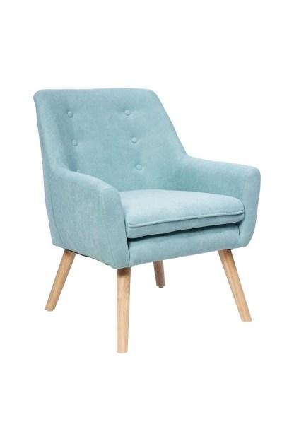 Poltrona Imbottita Braccioli Living Azzurro - KMV Home Store stocKMarket