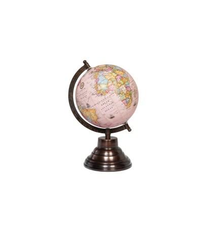 Mappamondo Classico Rosa Rame Arco Metallo Legno - KMV Home Store stocKMarket
