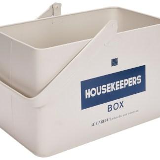 Housekeepers Box Scatola Contenitore Attrezzi Tool Colorata Maniglia Vintage Retrò Metallo - KMV Home Store stocKMarket