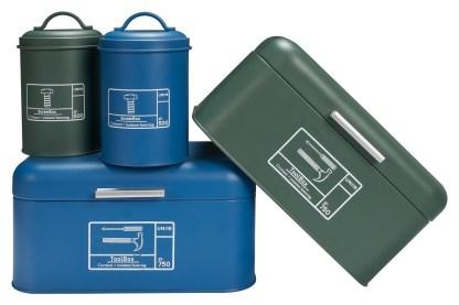 Scatola Barattolo Attrezzi Tool Box Blue Verde Maniglia Vintage Retrò Metallo - KMV Home Store stocKMarket