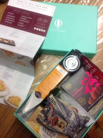 11-15 Try the World Holiday Food Box - Jared's BD gift to me