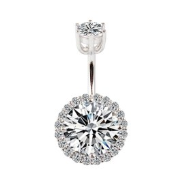 Piercing nombril argent 925