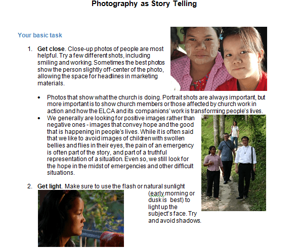 Photography as Story Telling