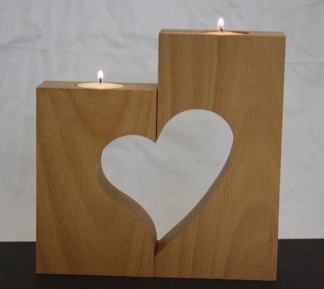 wwwknastladende  Kerzenhalter mit Herz