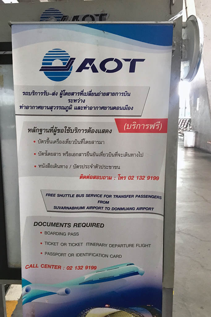 How To Take The Free Shuttle From Suvarnabhumi To Don Muang