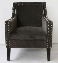 Stylish Studded Armchair Black Velvet Chair Gothic Chair ...