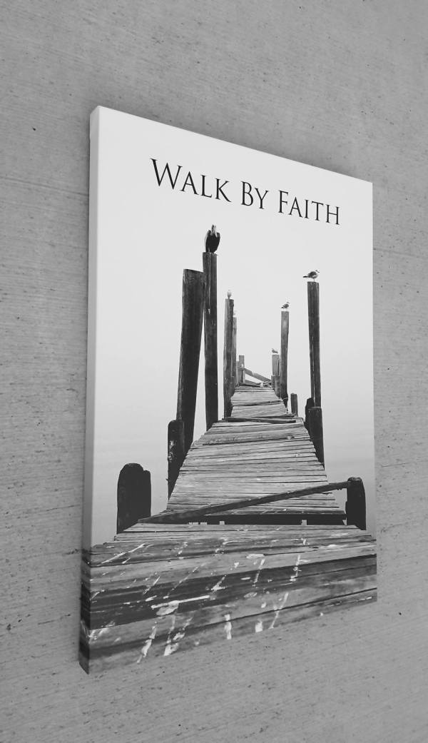 Walk Faith Inspirational Art Giclee Canvas