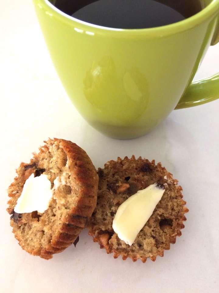 Sea Salt Caramel Chip Banana Muffins