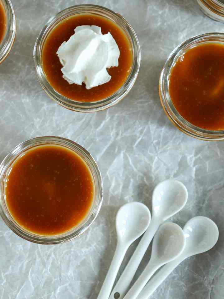 Caramel Cheesecakes in a Jar