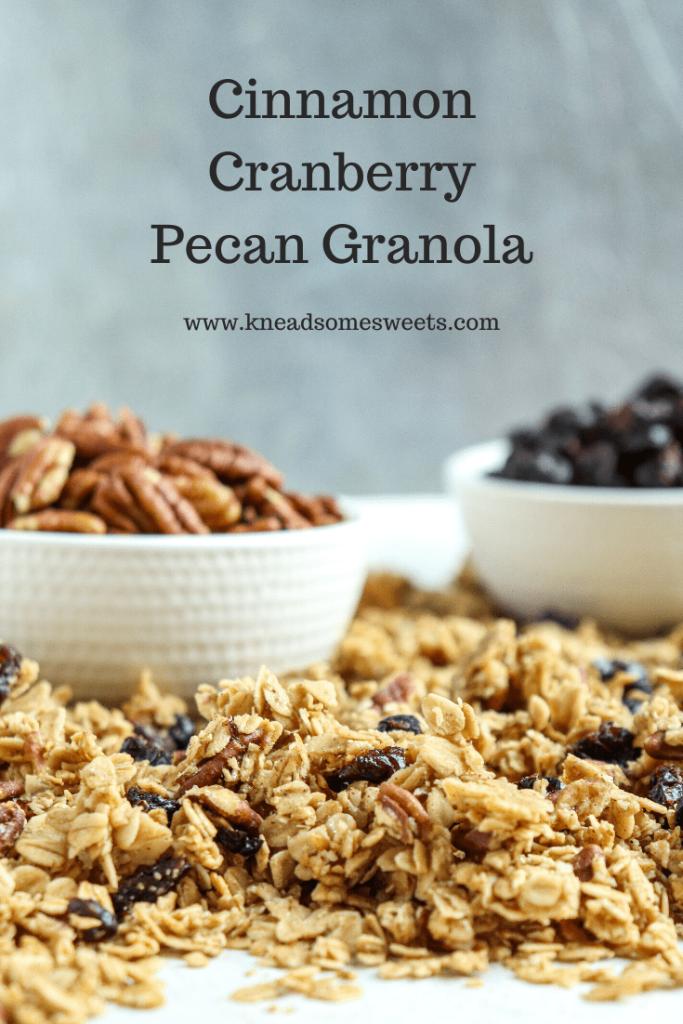 Cinnamon Cranberry Pecan Granola