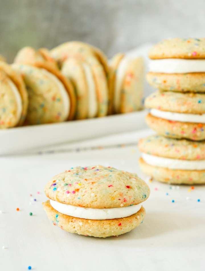 Birthday Cake Sandwich Cookies