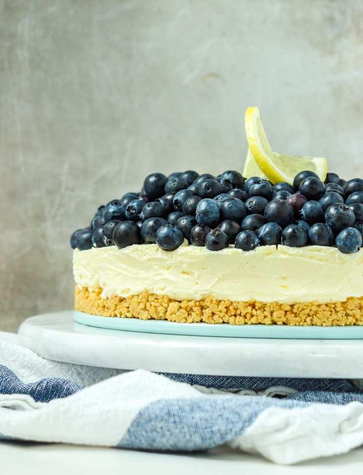No-Bake Blueberry Lemon Cheesecake