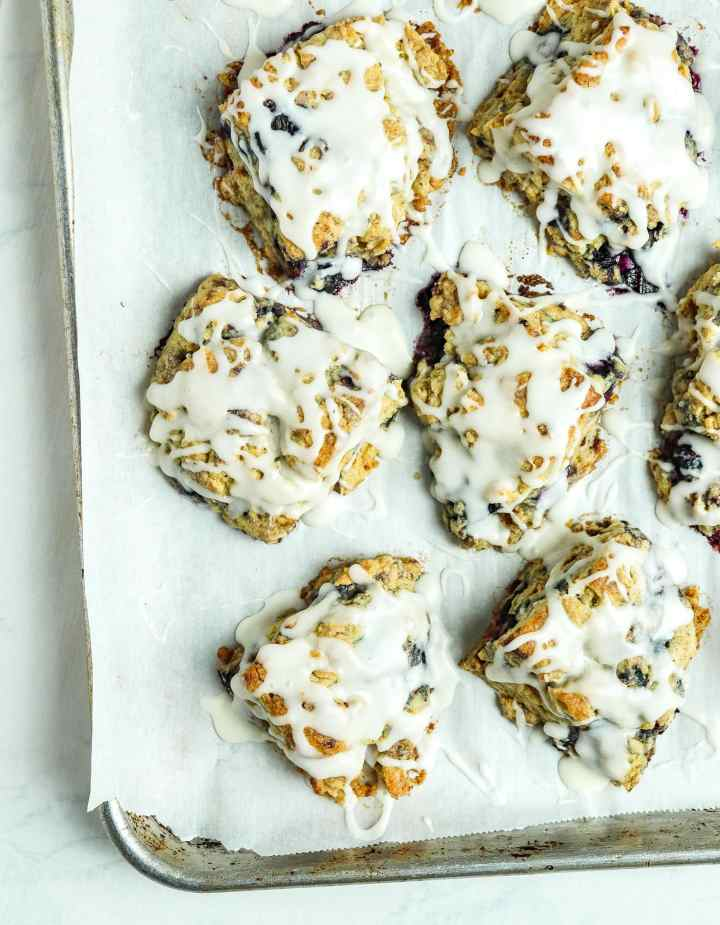 Blueberry Brown Butter Scones