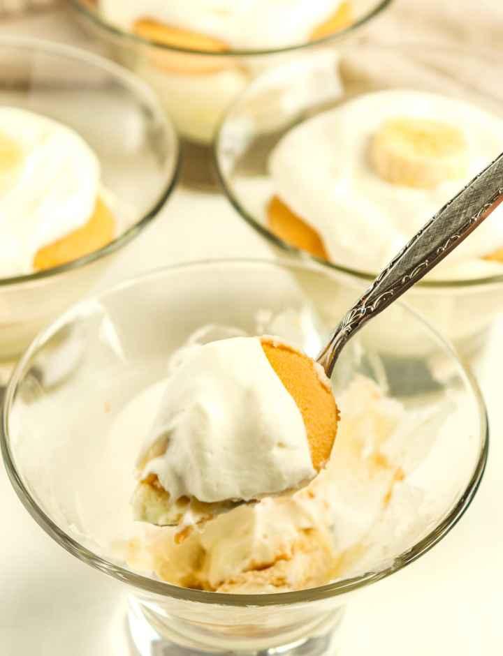 dessert on a spoon