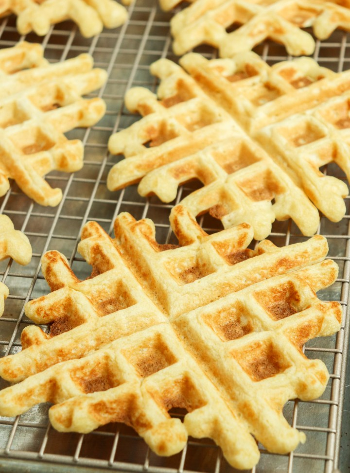 waffles on a wire rack