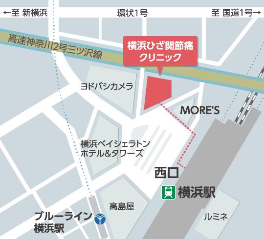 横浜ひざ関節症クリニック の地図