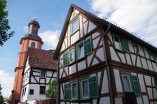 Bad Nauheim die Altstadt Fachwerkhäuser