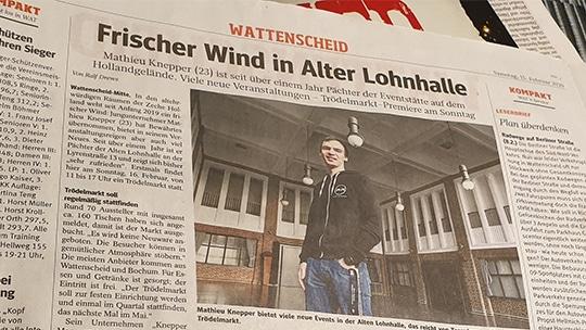 Knepper Management - Presse- WAZ - Frischer Wind in der Alten Lohnhalle