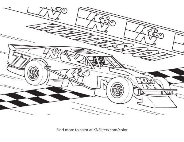 coloring page car # 52